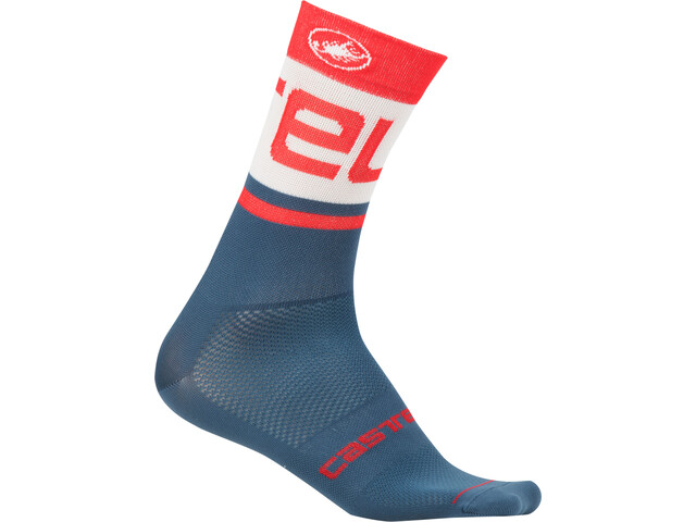 Castelli Free Kit 13 Socks Herren light steel blue/red